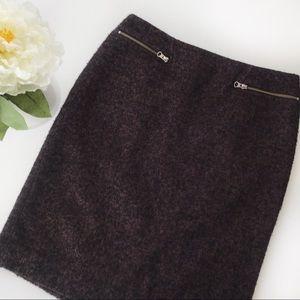 Halogen Tweed Pencil Skirt Zipper Detail